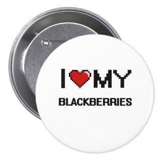 I Love My Blackberries Digital design 7.5 Cm Round Badge