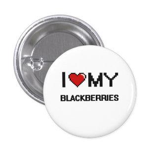 I Love My Blackberries Digital design 3 Cm Round Badge