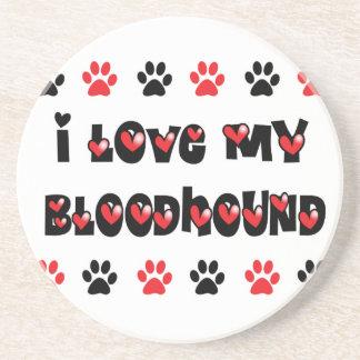 I Love My Bloodhound Coasters