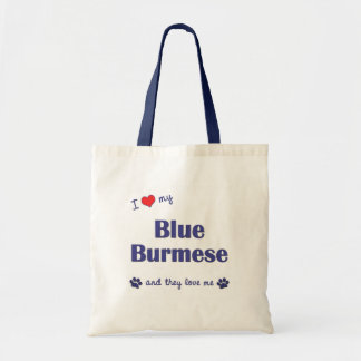 I Love My Blue Burmese (Multiple Cats) Budget Tote Bag