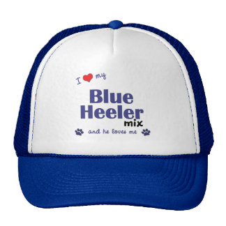 I Love My Blue Heeler Mix (Male Dog) Cap