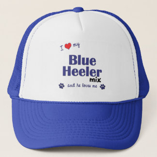I Love My Blue Heeler Mix (Male Dog) Trucker Hat
