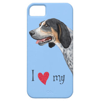 I Love my Bluetick Coonhound Barely There iPhone 5 Case