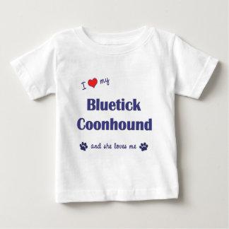I Love My Bluetick Coonhound (Female Dog) Tshirt