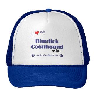 I Love My Bluetick Coonhound Mix (Female Dog) Cap