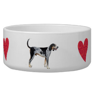 I Love my Bluetick Coonhound Dog Food Bowls