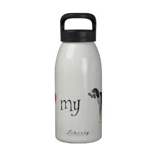 I Love my Bluetick Coonhound Water Bottle