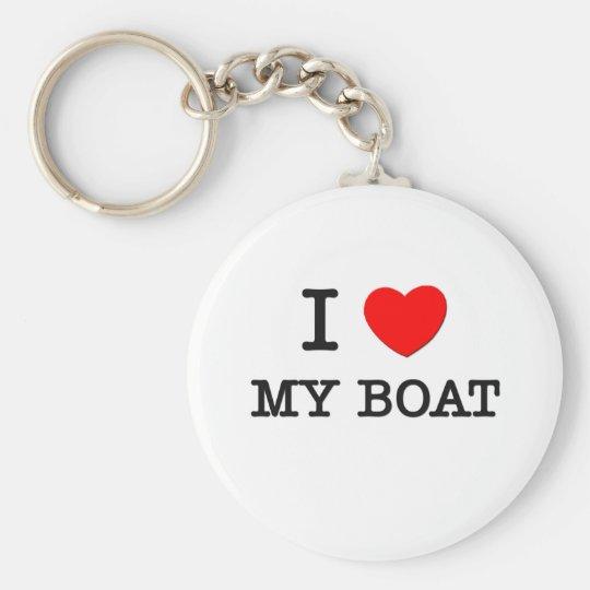 I Love My Boat Basic Round Button Key Ring