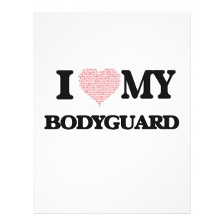 I love my Bodyguard (Heart Made from Words) 21.5 Cm X 28 Cm Flyer
