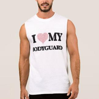 I love my Bodyguard (Heart Made from Words) Sleeveless Tee