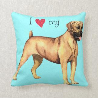 I Love my Boerboel Throw Pillows