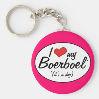 I Love My Boerboel (It's a Dog) Basic Round Button Key Ring