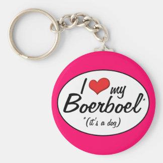 I Love My Boerboel (It's a Dog) Basic Round Button Key Ring