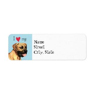 I Love my Boerboel Return Address Label