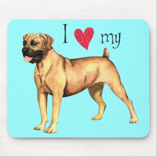 I Love my Boerboel Mouse Pads