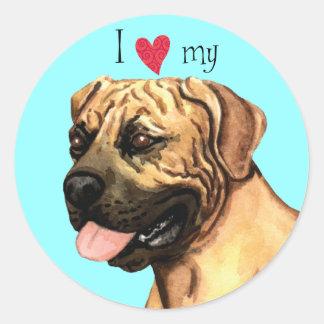 I Love my Boerboel Round Sticker