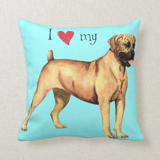 I Love my Boerboel Throw Pillow