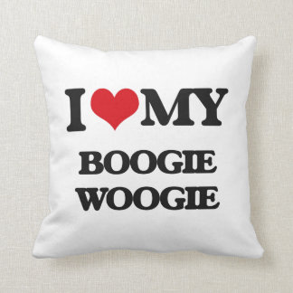 I Love My BOOGIE WOOGIE Throw Pillows