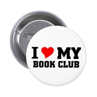 I love my Book Club 6 Cm Round Badge