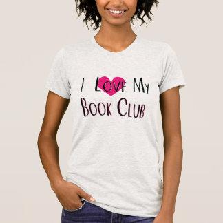 I Love My Book Club Heart Tshirt