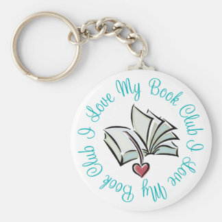 I Love My Bookclub Key Ring