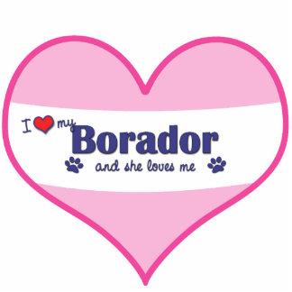 I Love My Borador (Female Dog) Photo Sculpture Decoration