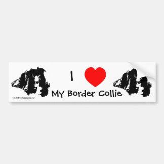 I Love My Border Collie Bumper Sticker