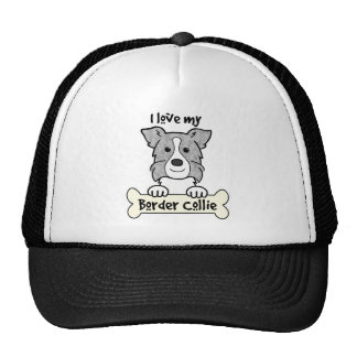 I Love My Border Collie Cap