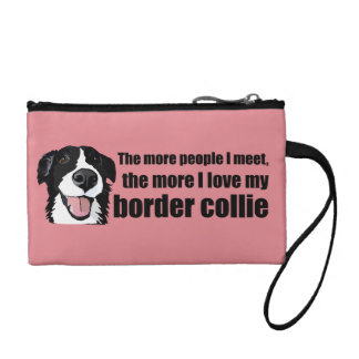 I love my border collie coin purses
