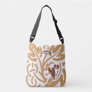 I Love My Border Collie Crossbody Bag