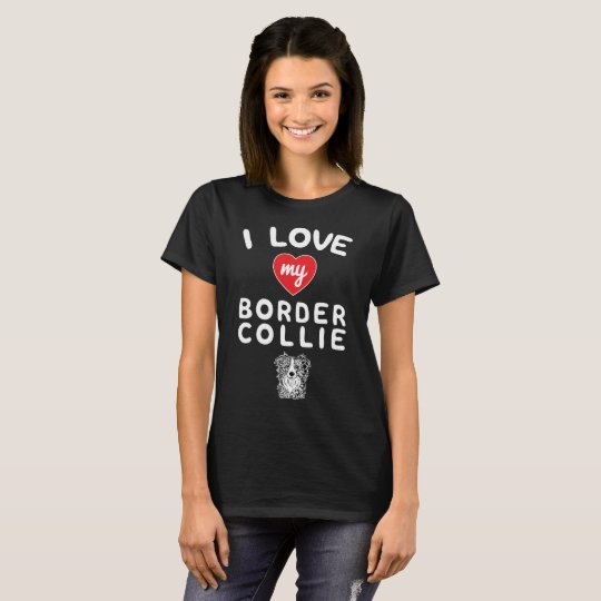 I love my Border Collie Face Graphic Art