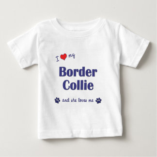 I Love My Border Collie (Female Dog) T-shirt