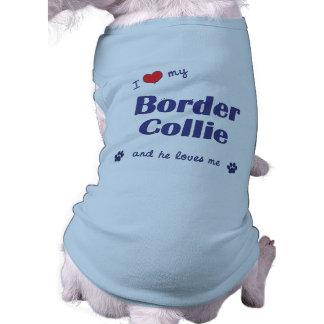 I Love My Border Collie Male Dog Doggie Tee Shirt