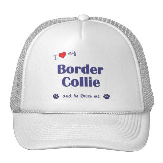 I Love My Border Collie (Male Dog) Hat