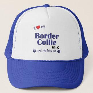I Love My Border Collie Mix (Female Dog) Trucker Hat
