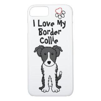 I Love My Border Collie Phone Case
