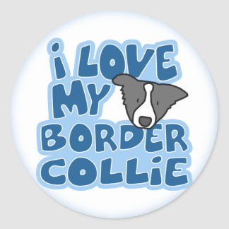 I Love My Border Collie Stickers