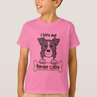 I Love My Border Collie Tee Shirts
