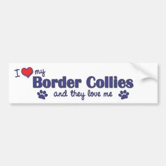 I Love My Border Collies (Multiple Dogs) Bumper Sticker