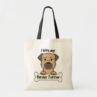 I Love My Border Terrier Budget Tote Bag