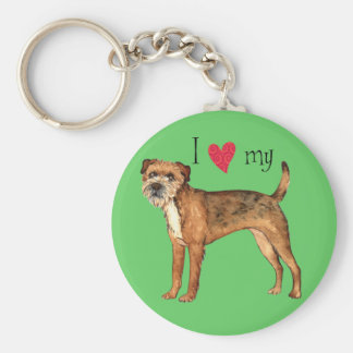 I Love my Border Terrier Key Ring