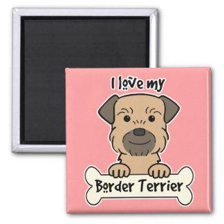 I Love My Border Terrier Magnet
