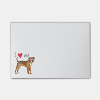 I Love my Border Terrier Post-it® Notes
