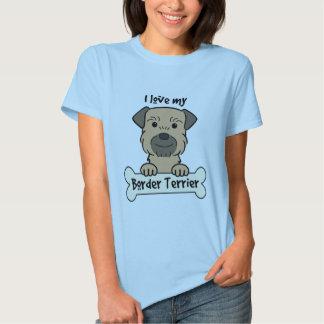 I Love My Border Terrier T Shirt