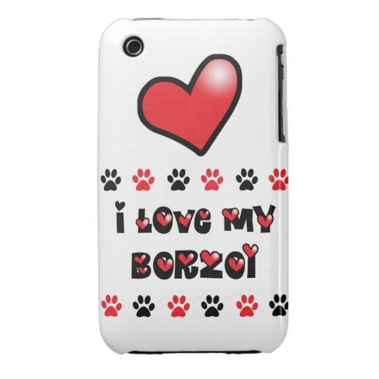 I Love My Borzoi iPhone 3 Case-Mate Case
