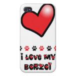 I Love My Borzoi iPhone 4 Case