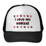 I Love My Borzoi Mesh Hat