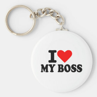 I love my boss keychain