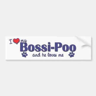 I Love My Bossi-Poo (Male Dog) Bumper Sticker