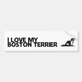 I Love My Boston Terrier Bumper Sticker